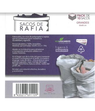 10 SACOS DE RAFIA 55*95 CMS